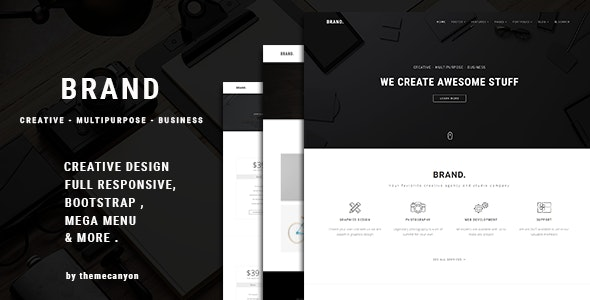 Brand. -  Creative Template for Professionals - Creative Site Templates
