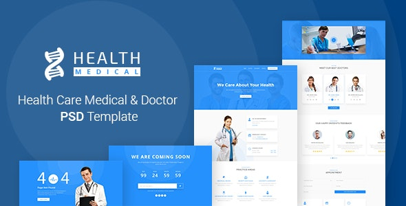 Health Care Medical & Doctor PSD Template - Health & Beauty Retail