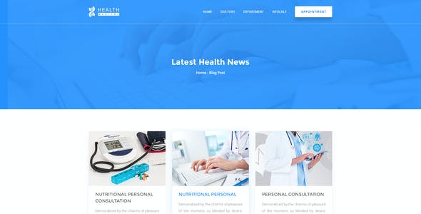 Health Care Medical & Doctor PSD Template