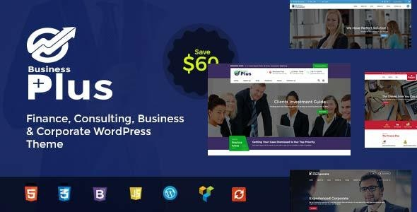 Business Plus - Finance Consultancy WordPress Theme - Business Corporate