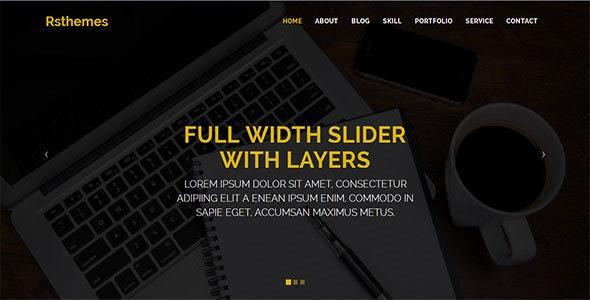 RS-PORTFOLIO Landing Page HTML Template - Portfolio Creative