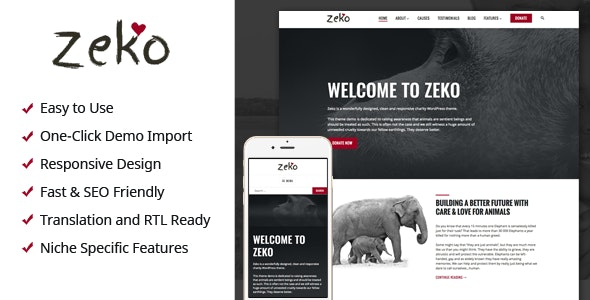 Zeko - Charity/Non-Profit WordPress Theme - Charity Nonprofit