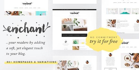 Enchant - Multi-Concept WordPress Blog Theme - Personal Blog / Magazine
