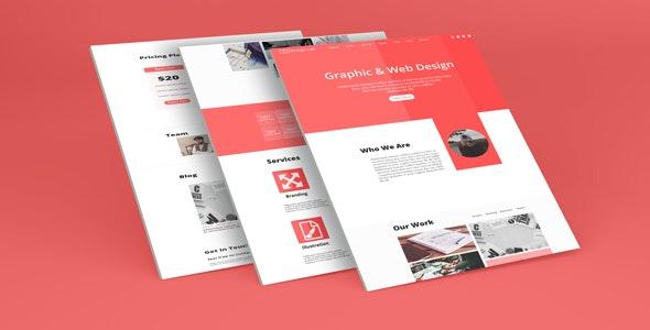 Creative multi-purpose website and blog PSD - Photoshop UI Templates