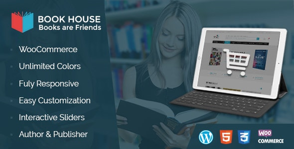 Book House WordPress - BookShop WP - WooCommerce eCommerce