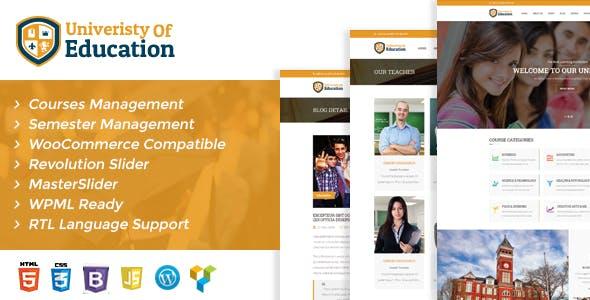 University of Education WordPress Theme - Courses Management WP