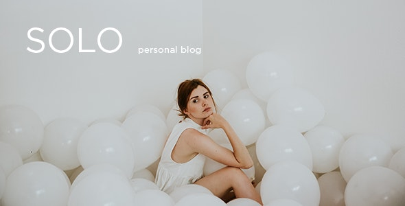 Solo - Modern Personal Blog PSD Template - Personal Photoshop
