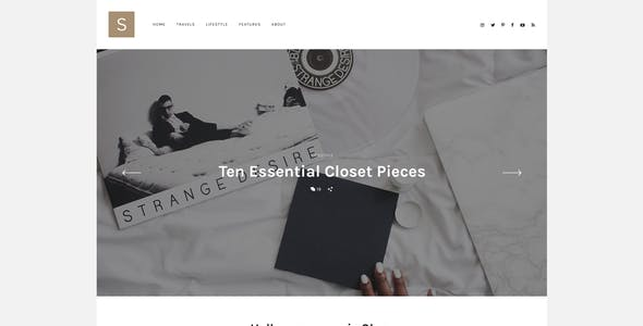 Solo - Modern Personal Blog PSD Template