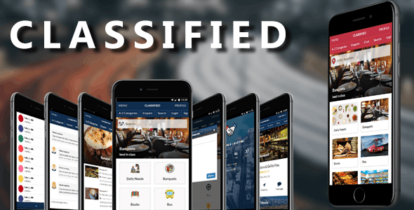 Classified Mobile and Tablet Responsive Template for Classified Listing