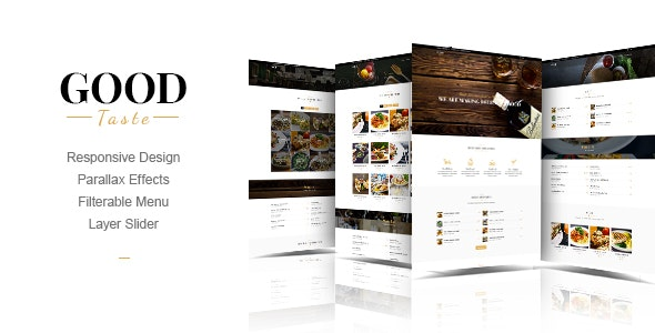 GoodTaste | Creative Restaurant Template - Food Retail
