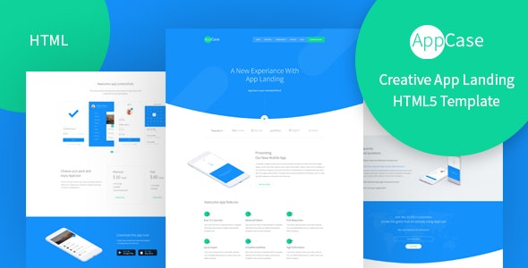 AppCase - Responsive App Landing Page Template - Technology Site Templates