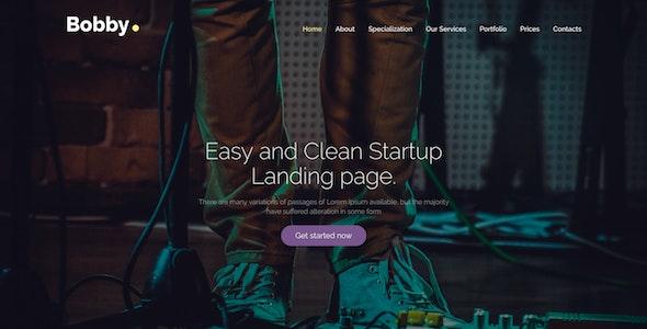 Bobby - Creative Service Landing Page Drupal 8 Theme - Creative Drupal