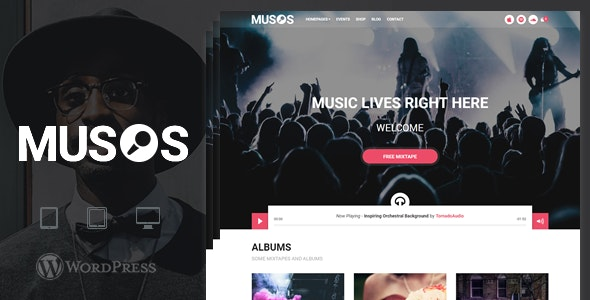 Musos - A WordPress Music Theme - Music and Bands Entertainment