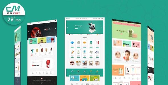 Multicart - Multi Purpose E-commerces PSD Template - Retail Photoshop