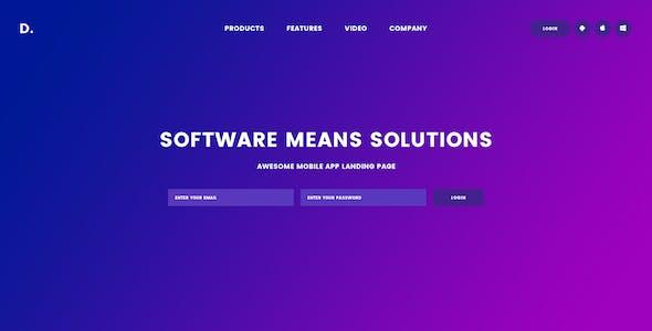 Shuvon App & Software PSD Template