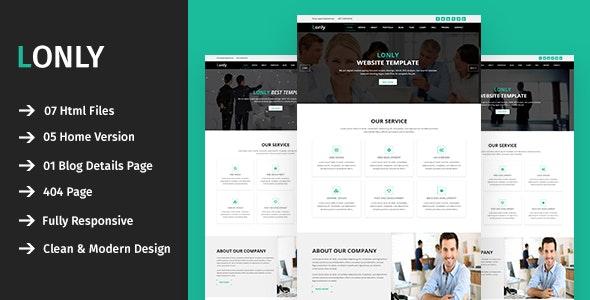 Lonly - Multipurpose HTML5 Template - Creative Site Templates