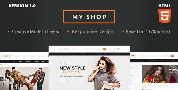 MY SHOP Ecommerce HTML - Retail Site Templates
