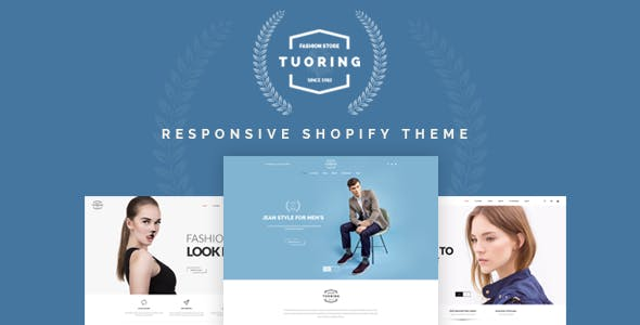 Tuoring - Responsive Fashion, Tee, Clothing Shopify Theme (Sections Ready)