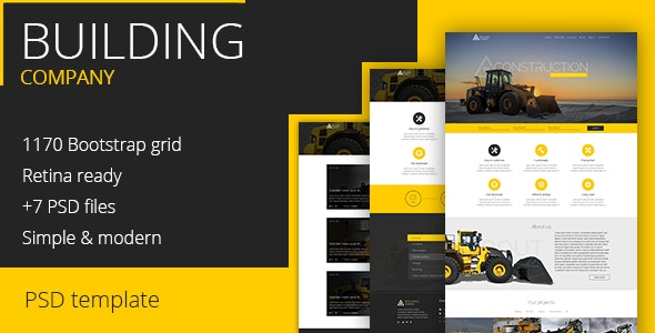 Construction Company - PSD Template - Business Corporate
