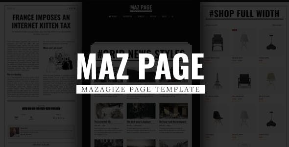 MazPage - Magazine, News, Blog, Shop, Newspaper Template