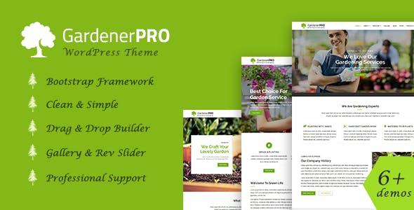 GardenerPro - Gardening, Lawn Care and Landscaping WordPress Theme