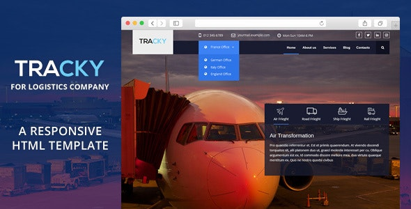 Tracky - Transport & Logistic Responsive HTML Template - Business Corporate