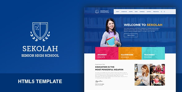 Sekolah - Senior High School HTML5 Template by wp_asia