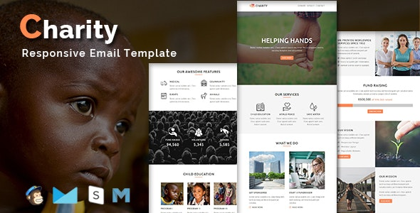 CHARITY - Responsive Email Template - Newsletters Email Templates