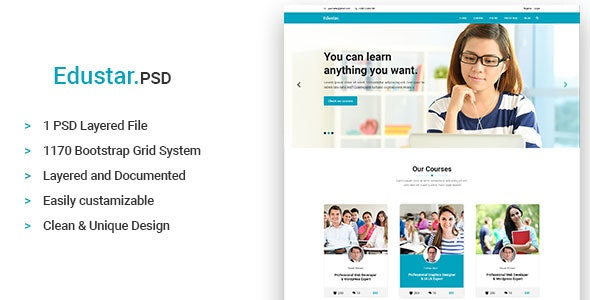Edustar - Education PSD Template - Miscellaneous Photoshop