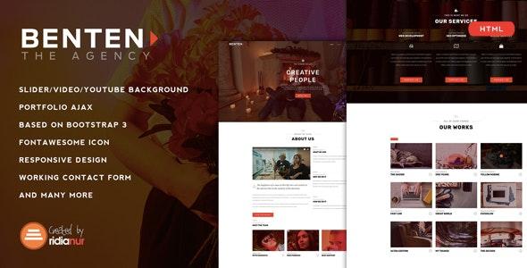 Benten - Responsive One Page Portfolio HTML Template - Portfolio Creative