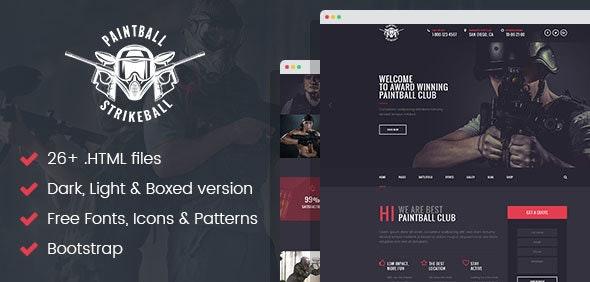 Paintball & Strikeball Club - Premium HTML5 Template - Corporate Site Templates