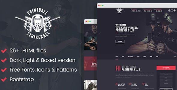 Paintball & Strikeball Club - Premium HTML5 Template