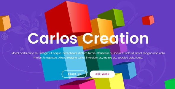 Carlos | Creative Agency PSD Template - Portfolio Creative