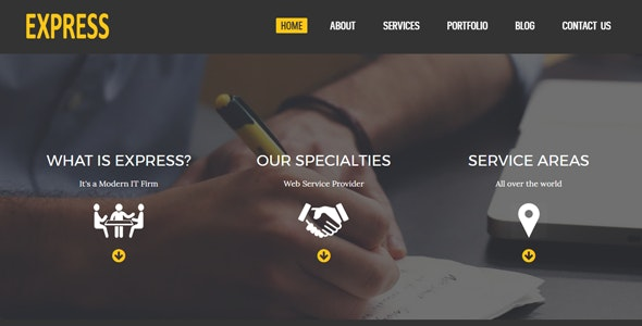 Express - Responsive HTML5 Corporate Business Template - Business Corporate