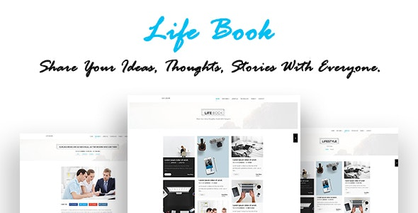 Lifebook creative personal blog html template by craftytheme.