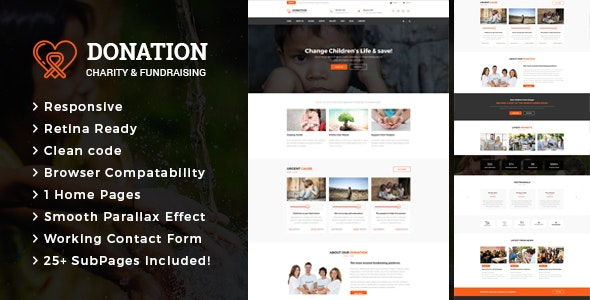 Donation -  Charity & Fund Raising HTML Template - Charity Nonprofit