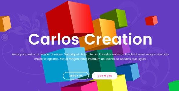 Carlos - Creative Agency Template - Portfolio Creative