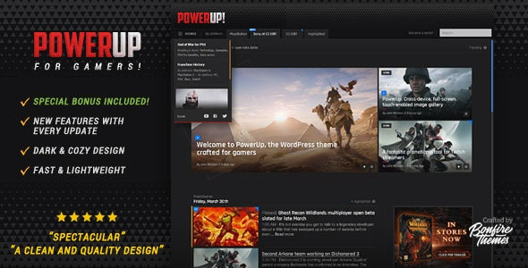 PowerUp - Video Game Theme for WordPress by BonfireThemes | ThemeForest