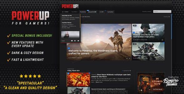 PowerUp - Video Game Theme for WordPress