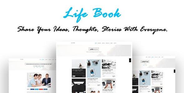 Life Book - Creative Personal Blog - WordPress Theme