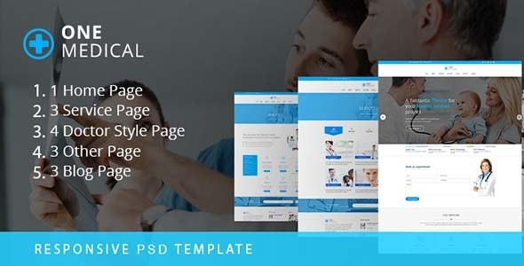 ONE Medical-PSD Template - Photoshop UI Templates