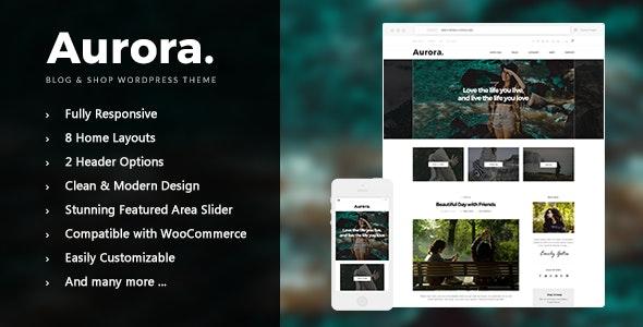 Aurora - Lifestyle Blog and Shop WordPress Theme - Blog / Magazine WordPress