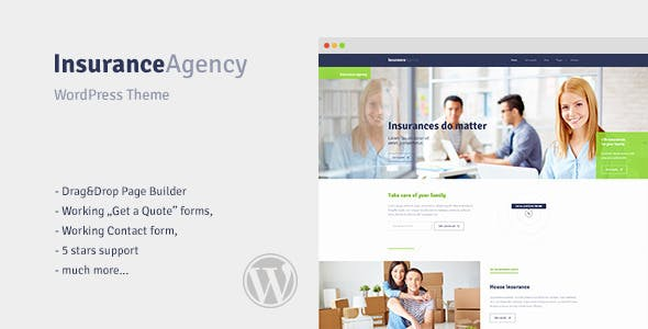 insurance wordpress theme for insurance agency by. Black Bedroom Furniture Sets. Home Design Ideas