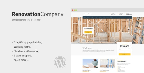 Renovation Company - Construction and Building WordPress Theme - Business Corporate