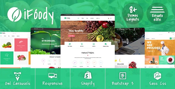 SP iFoody - Responsive Organic Food Shopify Theme - Shopify eCommerce