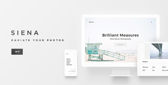 Siena - Aesthetic Photography Portfolio Theme for WordPress - Photography Creative