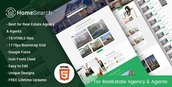 HomeSearch - A RealEstate HTML5 Template - Business Corporate