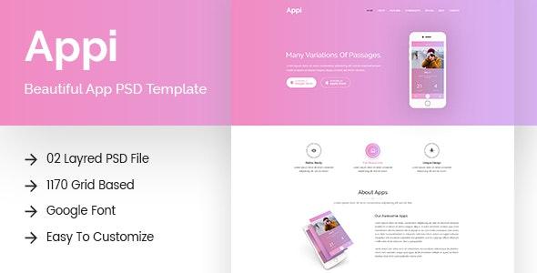 Appi - App Landing PSD Template - Hosting Technology
