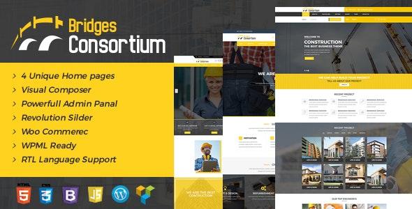 The Bridges Construction WordPress Theme - Building Store - Business Corporate