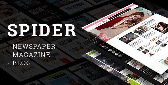 Spider - Newspaper, Magazine & Blog Theme - Site Templates